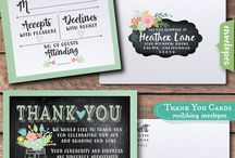 Vintage Chalkboard Mason Jar Rustic Wedding Invitations / Beautiful rustic vintage floral mason jar theme wedding invitations, rsvp cards, thank you cards, save the date cards, favor tags, and name cards. Professionally printed on gorgeous card stocks and artfully hand mounted, these mason jar wedding invitations are stunning in person!
