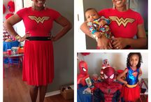 Kid Parties by Sabrina Seymore events / Kid party. super hero. spiderman. supergirl. wonder woman. 4th birthday party. event planner. party planner. mane event planning