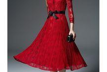 Mode femme / modèles de robes fashion , élégante , glamour et chic .