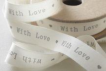 ♡ Ribbon / Lint | Ribbon | Text | Teksten | DIY | Wraping