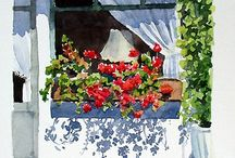 Pencereler,kapılar,evler,çiçekler...