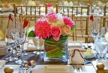 Kukka-asetelmat  / Kukka-asetelmat salissa, ruokapöydässä, linjastoissa ym..