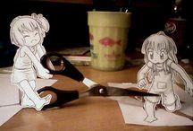 Paper Child / Las obras de Paper Child interactúan con la realidad.
