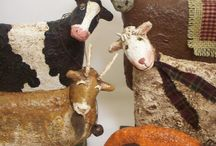 Лепка слоны,коровы,козы.