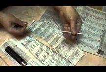 Tessitura carta di giornale