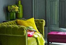 Дизайн с болотным диваном