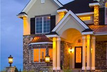 "European House Plans: Living the ""Old World"" Dream at Home / A delightful architectural look that brings together styles from England, France, and Italy, the European house plan can be adapted to every region of the U.S.  http://bit.ly/1BtSrai"