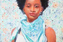 portraits à la peinture acrylique / portraits d'art réalisés à la peinture acrylique sur tous types de supports (toile, carton, bois, papier; etc... )