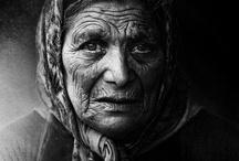 B&W / Old woman