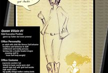 Confessions E-Sketches / Confessions of a working girl illustrated artwork. Sketches include characters encountered in a working office environment. These illustrations are fun and silly, maybe they'll make you laugh out loud. / by Confession Girl