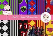 KIT DIGITAL DESCENDENTES DA DISNEY / Kit Digital Free