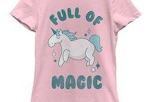 Unicorn girls tee