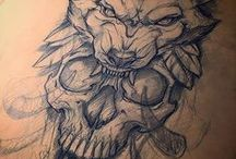 Tatuaż - Wilk