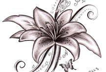 tetování lilie