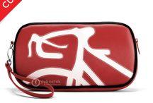 Cykochik Red Vegan Handbags / All of our favorite red vegan handbags. Handmade in Dallas, TX!