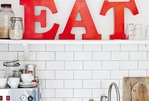 white red kitchen