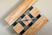relogio madeira