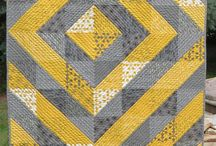 Halfies / Half square triangle designs for fabric and paper