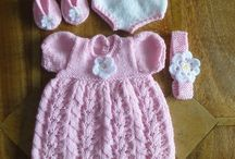 Knitting patterns for dolls clothes.