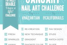"""JANUARY NAIL ART CHALLENGE by CaliforNails / """"Is never to late to challenge yourself"""""""