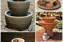 Clay pot fountains