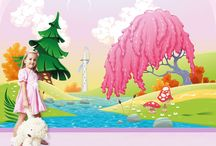 Flower Wall Mural / Flower wall murals for your girl's bedroom wall    Flower wall murals are an excellent choice for your girl's bedroom wall. Keep the freshness of spring on her walls all year round. Flower mural and floral wall murals work very well as Kid's Wallpaper. Spring, nature, mountains and forests add colour, brightness, and life to your child's rooms. Blossom her walls with beautiful scenery of daisies, tulips, and roses.