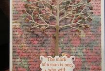 Handmade Cards Trees Leaves & Die Cuts /   / by Nyree Goss