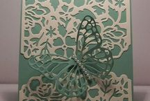 Thin lits birthday card with butterfly