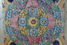 Mattonella mosaico,Realizzata interamente a mano.Sirio