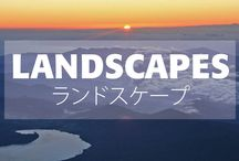 Japanese Landscapes • ランドスケープ / Japan's geography is staggering. Made up of more than 6,000 islands stretching 3,000 km (1,800 mi) from the northern tip of Hokkaido where cold winter winds sweep in from Siberia to the subtropical islands of Okinawa on the same latitude as the Bahamas.