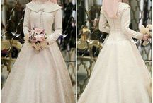 gaun pengantin cantik .