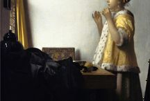 Vermeer style / Fur trimmed coats from the Dutch baroque era