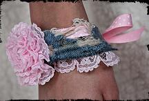 armbandrn van spijkerstof