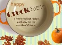 Crocktober / Dinner, lunches, sides or desserts for the month of October!