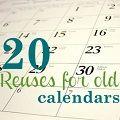 reuses for calendars