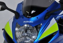 Suzuki GSX R 750/600 R 2012/2016 by Ermax Design / Accessories, Aeromax screen, under tail, license plate support, exhaust
