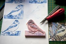 Rubber Stamps / My Hand carved Rubber Stamps