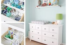 Nursery Organization / Ideas for organizing the nursery.