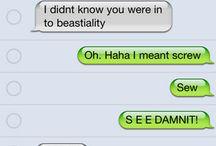 funny texting mistakes / by Mandi Ayala