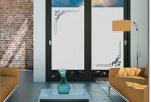 Sichtschutzfolie Ornamente / Elegante Ornamente als passgenauer Fenster Sichtschutz im Milchglasdesign