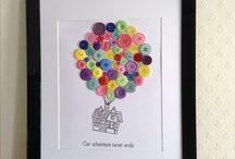 Bespoke button art  / Craft - handmade