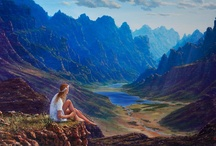Imaginary Landscape Paintings / A selection of imaginary landscape paintings by South African artist Andrew Cooper.