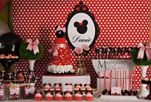 Minnie Mouse Dessert/Sweet Table / Minnie Mouse themed dessert/sweet table. Styling, all sweets and pictures by Masterpiece Of Cake