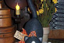Gatos negros halloween