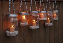 Crafts with jars, bottles etc