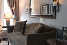 Mirror over couch