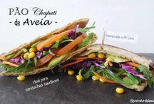 Pão Chapati de Aveia / Este Pão Chapati de Aveia é tão fácil e rápido, ideal para as nossas sanduiches saudáveis... Vegan, Sem Glúten, Sem Açúcar, Sem Gordura Adicionada, Sem Soja, Sem Frutos Secos