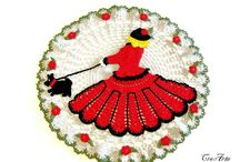 Crochet doilies / Lovely colorful doilies for any furniture and table! www.onlyitalianitems.com