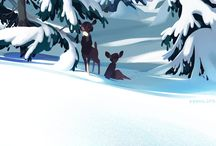 winter backgrounds cartoon animation