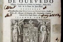 Quevedo, Francisco de, 1580-1645. Obras...[DTR-12; XVII-8596; XVII-7488] / Segona edició de les Obres de Quevedo impreses a Brussel·les per François Foppens, llibreter i tipògraf actiu en la producció de llibres en castellà. Els dos primers volums estan dedicats a la prosa, mentre que el tercer conté l'obra poètica. Es tracta d'una notable empresa editorial, d'elegant tipografia i text acurat.